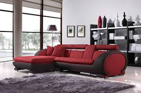 Small Modern Sectional Sofa by Red Fabric Two Tone Modern Sectional Sofa W Cup Holders