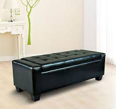 homcom modern faux leather ottoman footrest sofa shoe storage
