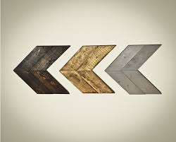 set of 3 rustic chevron wood arrows wall art home decor wooden