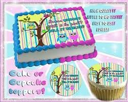 reveal baby shower owls gender reveal baby shower cake topper edible paper picture