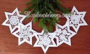 free standing lace and cutwork ornaments sku10631