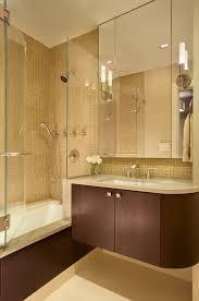 Bathtub Cast Iron Beautiful Cast Iron Bathtub With Floating Vanity Brown Tile Bath