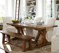 Pottery Barn Dining Room Table Rustic Mahogany Stain Finish - Pottery barn dining room set