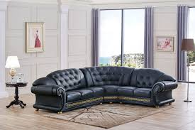apolo sectional black leather sectionals living room furniture