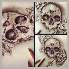 amazing skull tattoos cool skull ink designs by edward miller tattoos pinterest