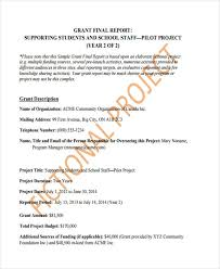 grant report template 10 grant report templates free premium templates
