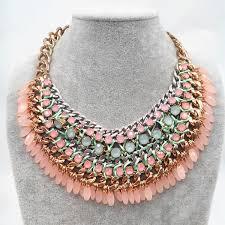 bib necklace aliexpress images Bohemia fashion crystal choker necklace brand gem tassel gold jpg