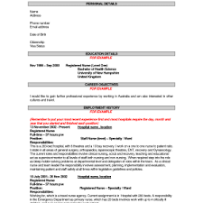 Sample Resume Australian Format by The Best Resume Template Stupefying Resume With Picture 5 Free