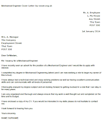 mechanical engineer cover letter example u2013 cover letters and cv