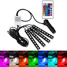 Interior Car Led Light Kits Amazon Com Hudiem Interior Car Lights Multicolor Rgb Car