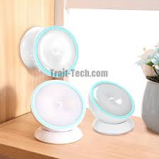 stick on wall base 360 degree rotation rechargeable motion sensor light stick on