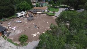 water debris to be removed from massive land o u0027 lakes sinkhole