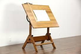 Drafting Table And Desk Sold Drafting Table Adjustable Artist 1930 U0027s Vintage Drawing