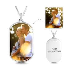 Personalized Photo Locket Necklace Heart Personalized Engravable Photo Necklace