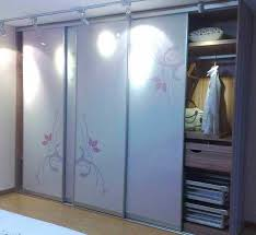 Sliding Door For Closet Astonishing 3 Panel Sliding Closet Door 32 About Remodel Home