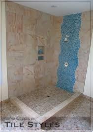 Waterfall Glass Tile Tile Styles Custom Waterfall Design Using Blue Mosaic Glass Yelp