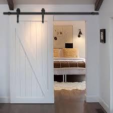 new 6 ft black modern antique style sliding barn wood door