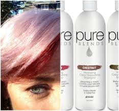 use pure blends chesnut to deposit a pink tone on pre lightened