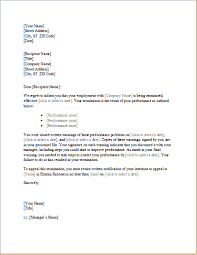 trainee employee termination letter word u0026 excel templates