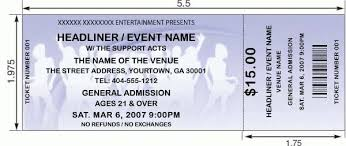 show ticket template thermal ticket printing thundertix on demand