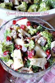 broccoli pear and pomegranate salad can t stay out of the kitchen