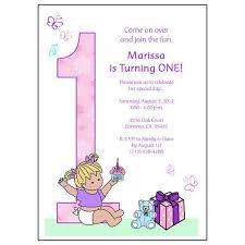 baby s 1st birthday babys 1st birthday party invitation girl mandys moon