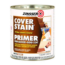 zinsser 1 qt white cover stain oil based interior exterior primer