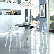acrylic dining room table round acrylic dining table dining room appealing acrylic and glass