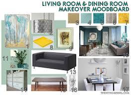 living room dining room makeover moodboard the diy homegirl aqua