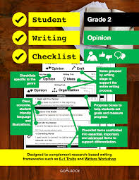 student writing checklist narrative grade 2 goalbook pathways