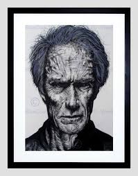 movie actor clint eastwood maguire frame framed art print picture