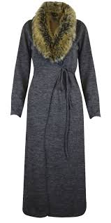 sweater with faux fur collar faux fur collar maxi cardigan cape belted