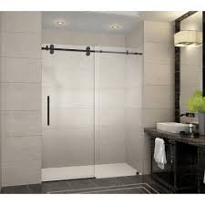 Door Shower Aston Langham 60 In X 75 In Frameless Sliding Shower Door In