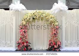 wedding backdrop vector free beautiful flowers wedding backdrop on outdoor stock photo 372749224