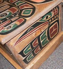 wood carving butterfly box canadian indian inc