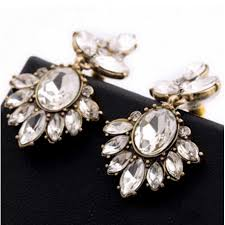 rhinestone earrings vintage rhinestone earrings