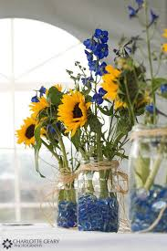 sunflower centerpieces and yellow sunflower centerpieces in jars sunflower