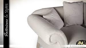 habillage canapé canapé de style rétro en bois massif et habillage écru