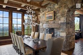 Dining Room Chandeliers Rustic Rustic Dining Room With Window Seat By Locati Architects Zillow