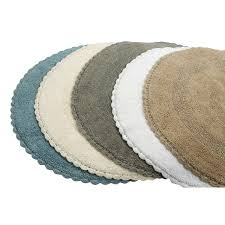saffron fabs bath rug cotton 36 in round reversible different