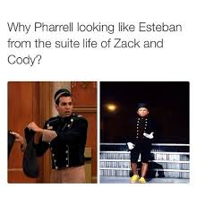 Meme Suite - why pharrell looking like esteban from the suite life of zack and