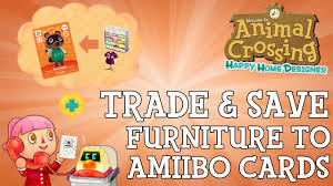 how to save items to amiibo cards in animal crossing happy home