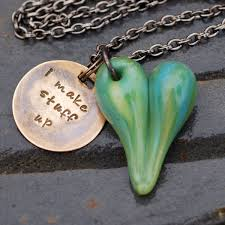 green heart pendant necklace images Custom made glass heart pendant necklace boro lampwork jewelry jpg