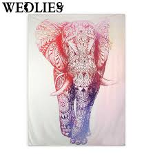 aliexpress com buy polyester wall hanging elephant indian