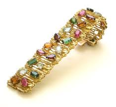 multi colored gold bracelet images Gold and multi colored stone bracelet by h stern kimberly jpg
