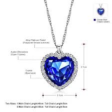 heart necklace from titanic images Titanic heart ocean necklace jpg