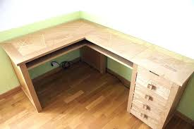 bureau d angle en bois massif bureau angle bois massif d en dangle cleanemailsfor me