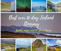 Best Road Trip Map Best Iceland Road Trip Itinerary For 10 Days Routes Maps And 75
