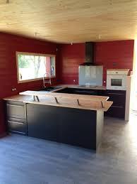 plan de travail cuisine hetre cuisine bois noir avec plan de travail en hetre admin