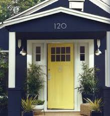 painting the front door mustard yellow and house exteriors
